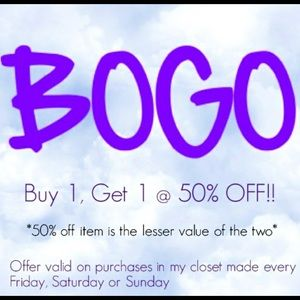 💜Buy One Get One 50% Off!!💜